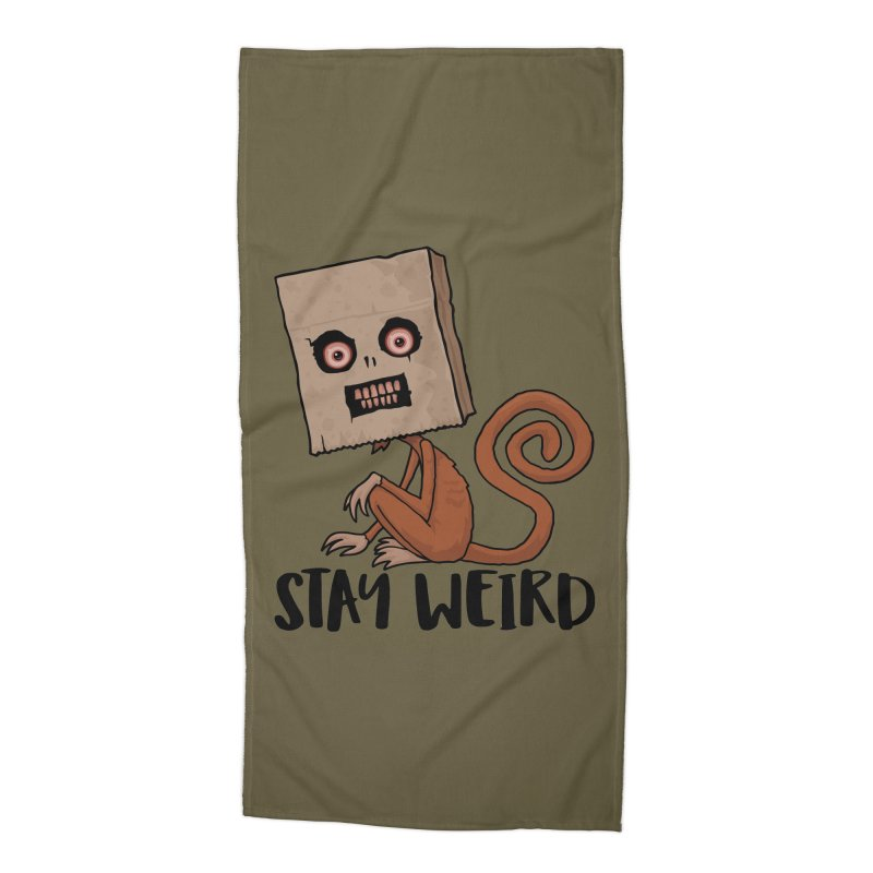 Stay Weird Sack Monkey Accessories Beach Towel by Fizzgig's Artist Shop
