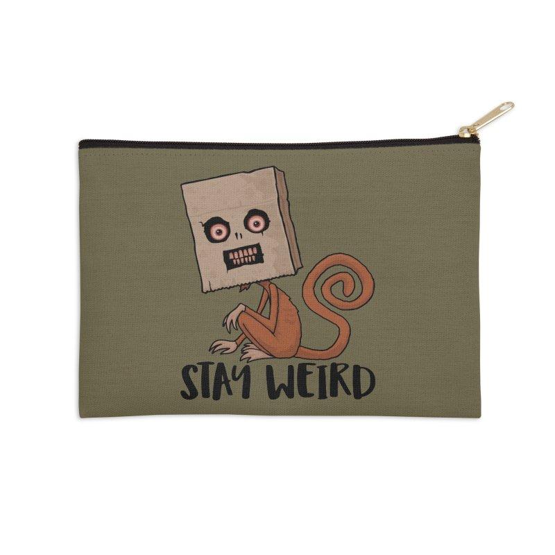 Stay Weird Sack Monkey Accessories Zip Pouch by Fizzgig's Artist Shop