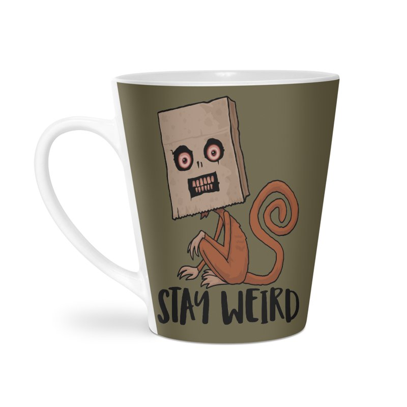 Stay Weird Sack Monkey Accessories Latte Mug by Fizzgig's Artist Shop
