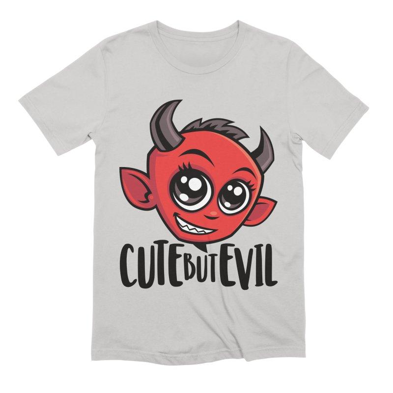 Cute But Evil Men's Extra Soft T-Shirt by Fizzgig's Artist Shop