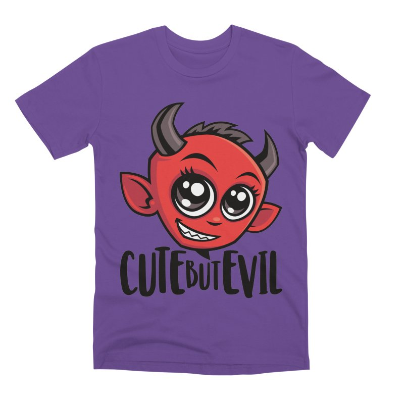 Cute But Evil Men's Premium T-Shirt by Fizzgig's Artist Shop
