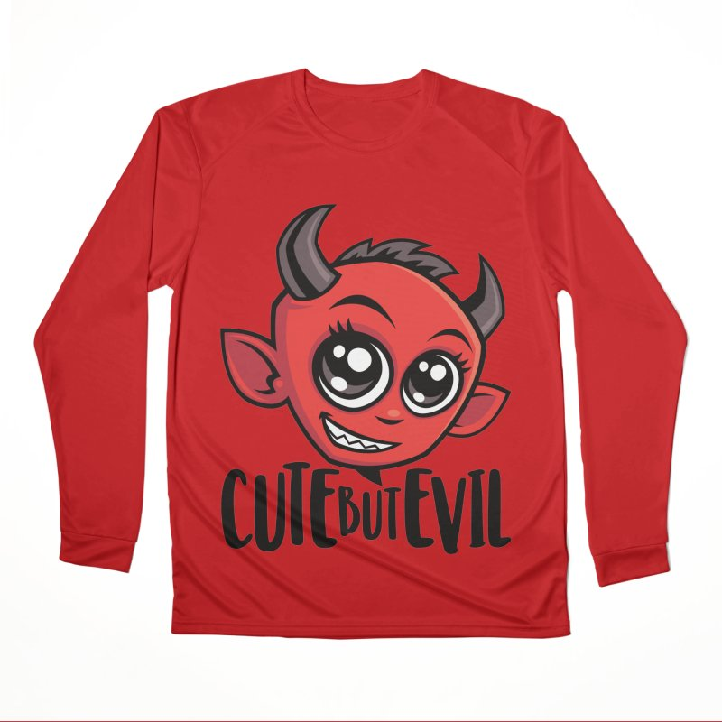 Cute But Evil Women's Performance Unisex Longsleeve T-Shirt by Fizzgig's Artist Shop