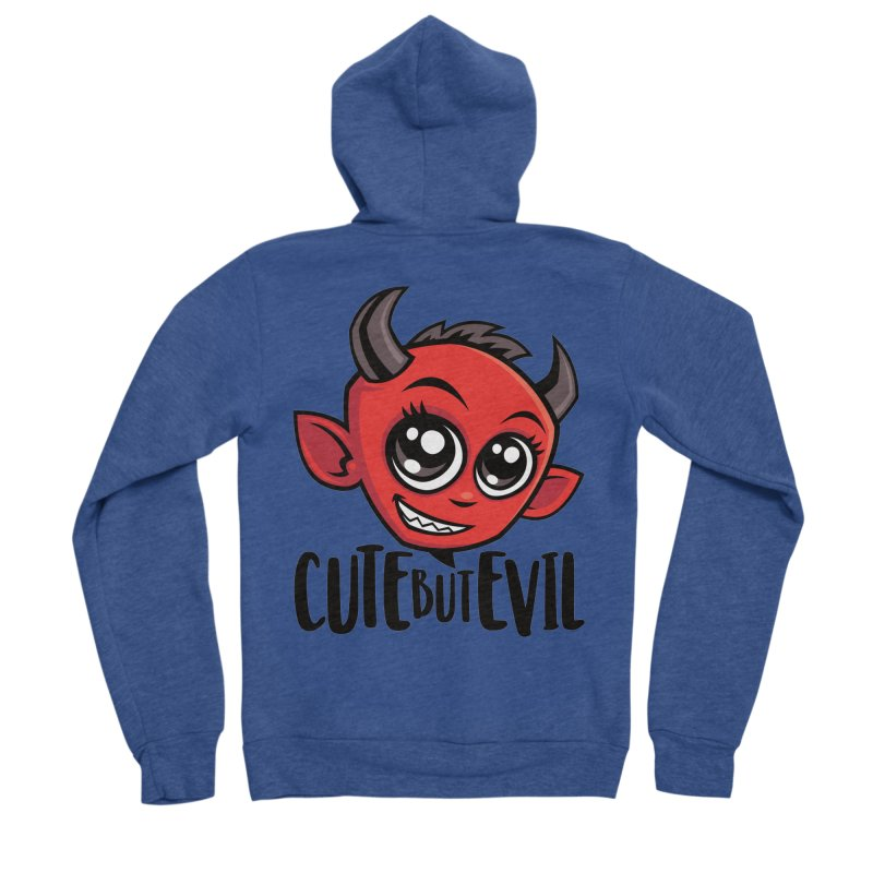 Cute But Evil Men's Sponge Fleece Zip-Up Hoody by Fizzgig's Artist Shop
