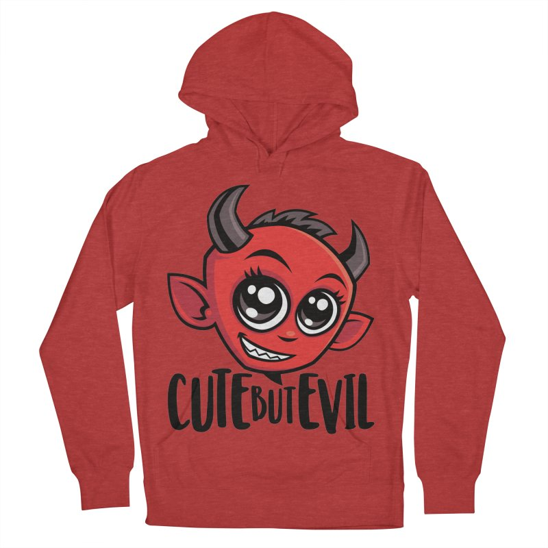 Cute But Evil Men's French Terry Pullover Hoody by Fizzgig's Artist Shop