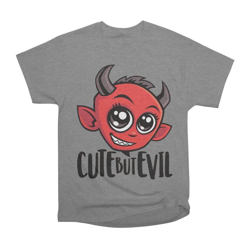 Cute But Evil Men's Heavyweight T-Shirt by Fizzgig's Artist Shop