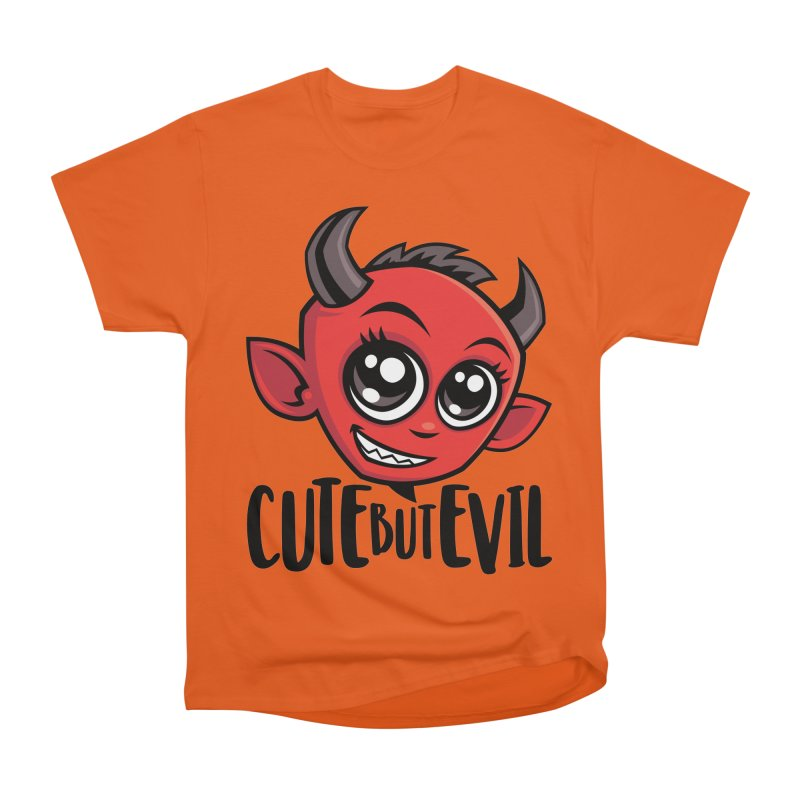 Cute But Evil Women's Heavyweight Unisex T-Shirt by Fizzgig's Artist Shop