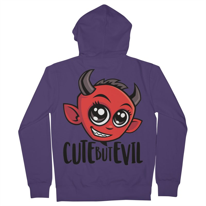Cute But Evil Women's French Terry Zip-Up Hoody by Fizzgig's Artist Shop