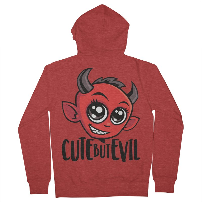 Cute But Evil Men's French Terry Zip-Up Hoody by Fizzgig's Artist Shop