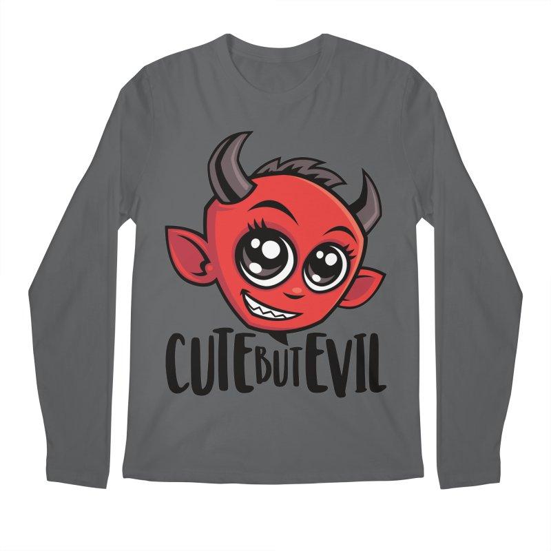 Cute But Evil Men's Longsleeve T-Shirt by Fizzgig's Artist Shop