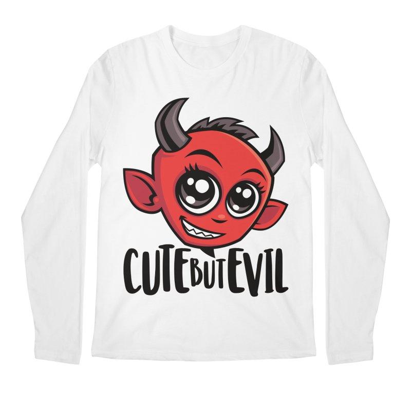 Cute But Evil Men's Regular Longsleeve T-Shirt by Fizzgig's Artist Shop