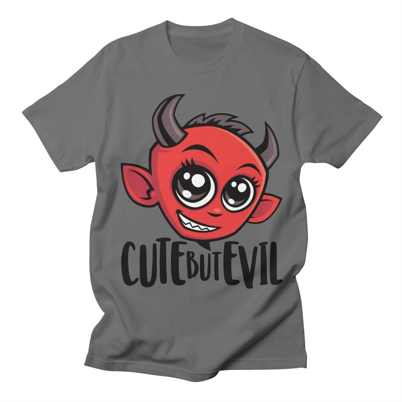 Cute But Evil Women's Regular Unisex T-Shirt by Fizzgig's Artist Shop