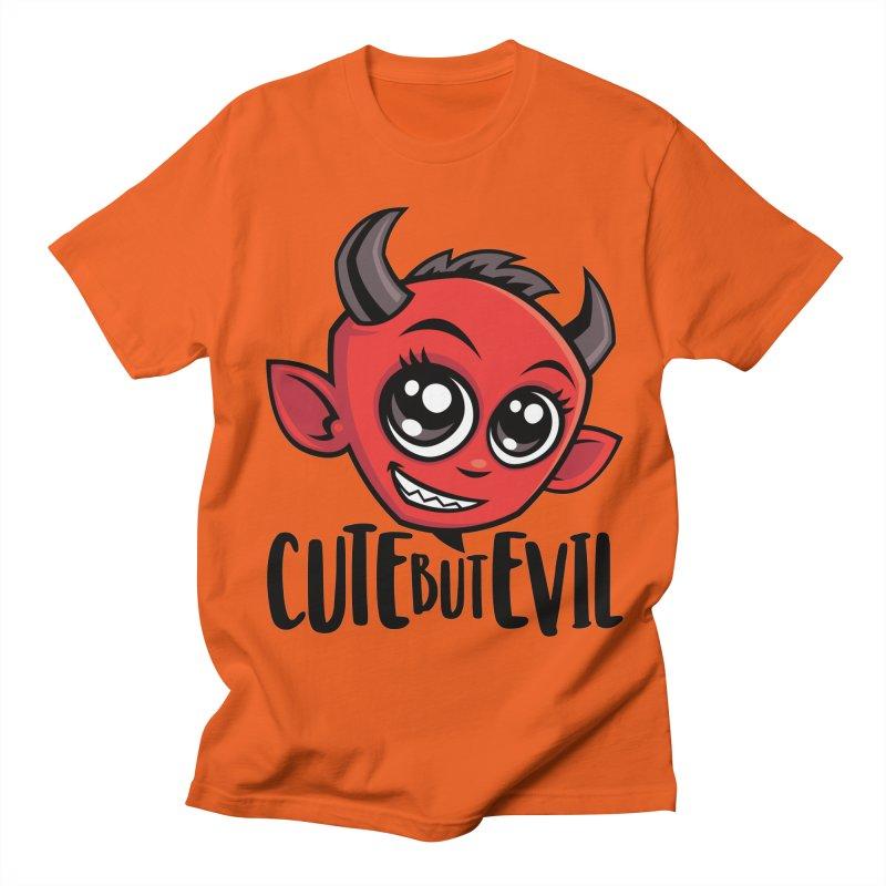 Cute But Evil Men's Regular T-Shirt by Fizzgig's Artist Shop