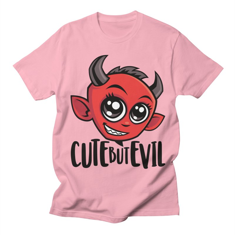 Cute But Evil Men's Regular T-Shirt by Fizzgig's Artist Shop