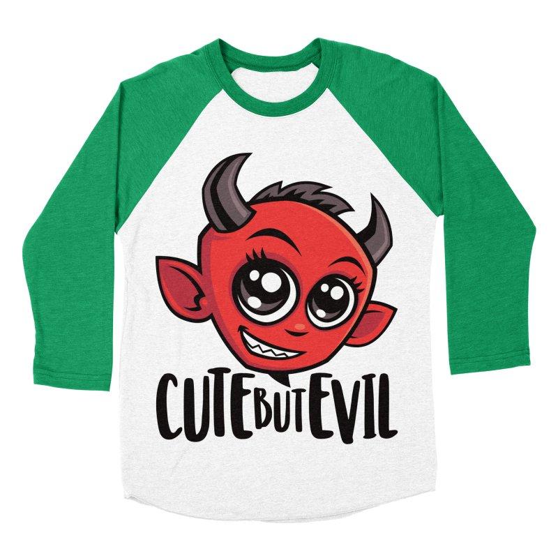 Cute But Evil Women's Baseball Triblend Longsleeve T-Shirt by Fizzgig's Artist Shop