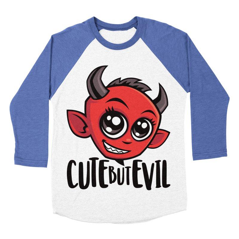 Cute But Evil Men's Baseball Triblend Longsleeve T-Shirt by Fizzgig's Artist Shop