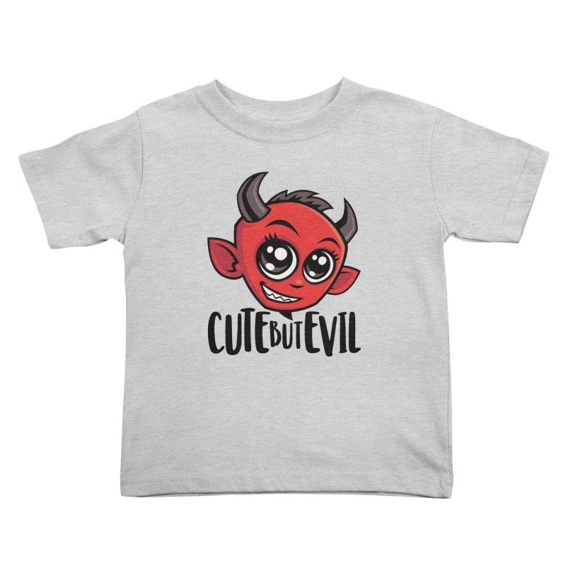 Cute But Evil Kids Toddler T-Shirt by Fizzgig's Artist Shop