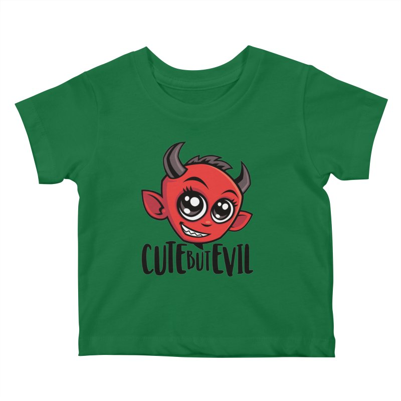 Cute But Evil Kids Baby T-Shirt by Fizzgig's Artist Shop