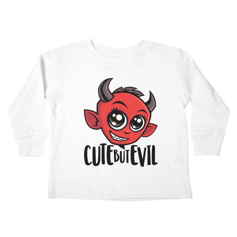 Cute But Evil Kids Toddler Longsleeve T-Shirt by Fizzgig's Artist Shop