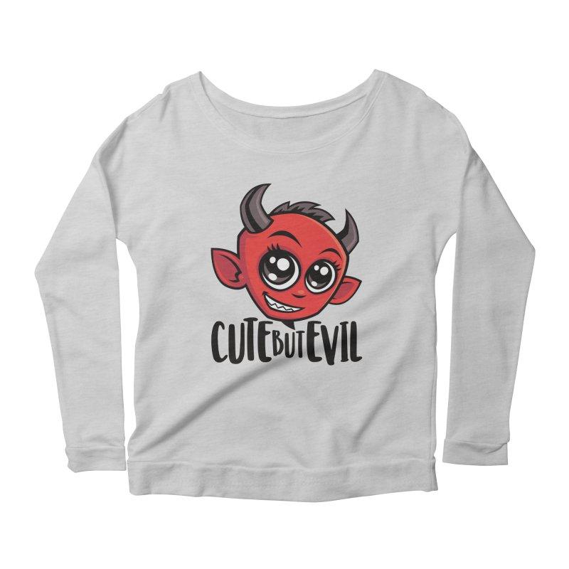 Cute But Evil Women's Scoop Neck Longsleeve T-Shirt by Fizzgig's Artist Shop