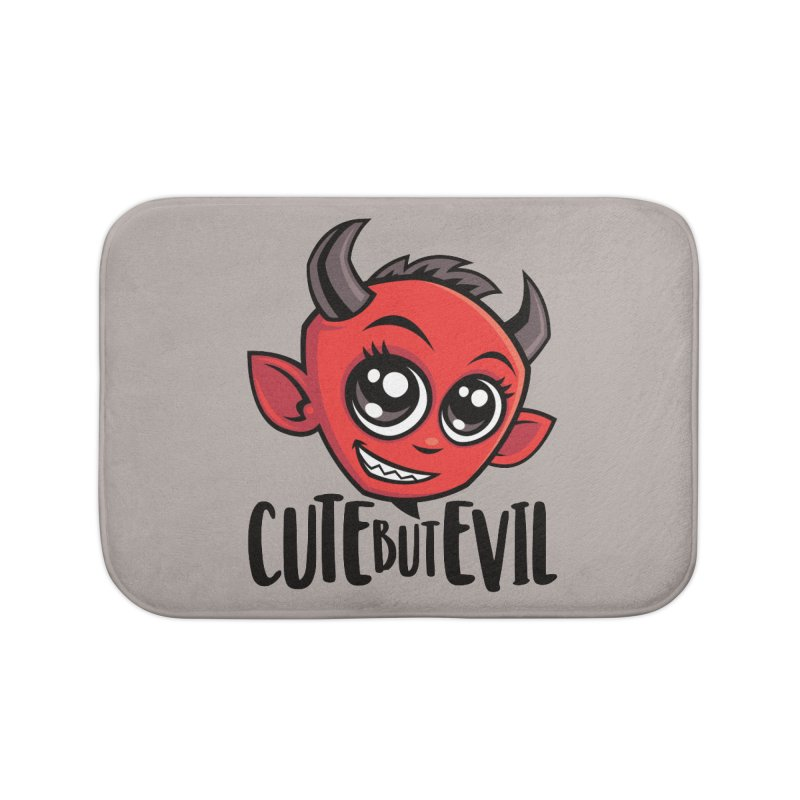 Cute But Evil Home Bath Mat by Fizzgig's Artist Shop