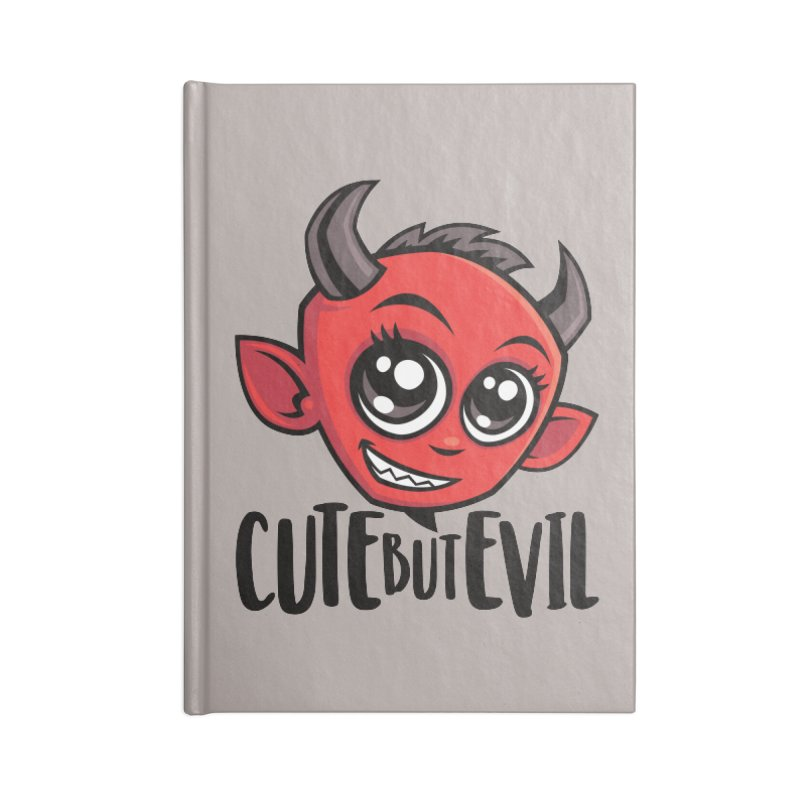 Cute But Evil Accessories Lined Journal Notebook by Fizzgig's Artist Shop