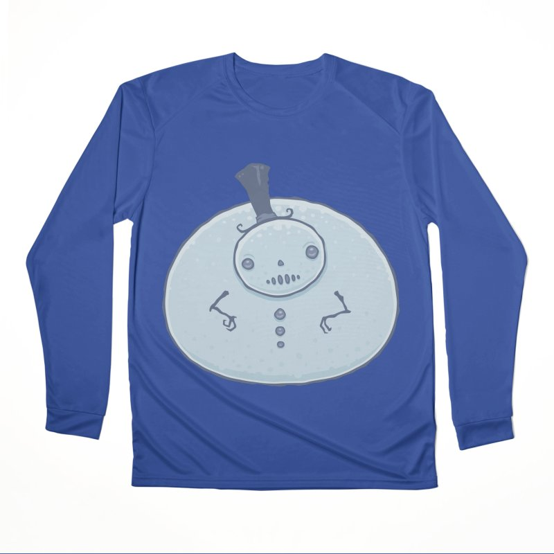 Pudgy Snowman Women's Performance Unisex Longsleeve T-Shirt by Fizzgig's Artist Shop