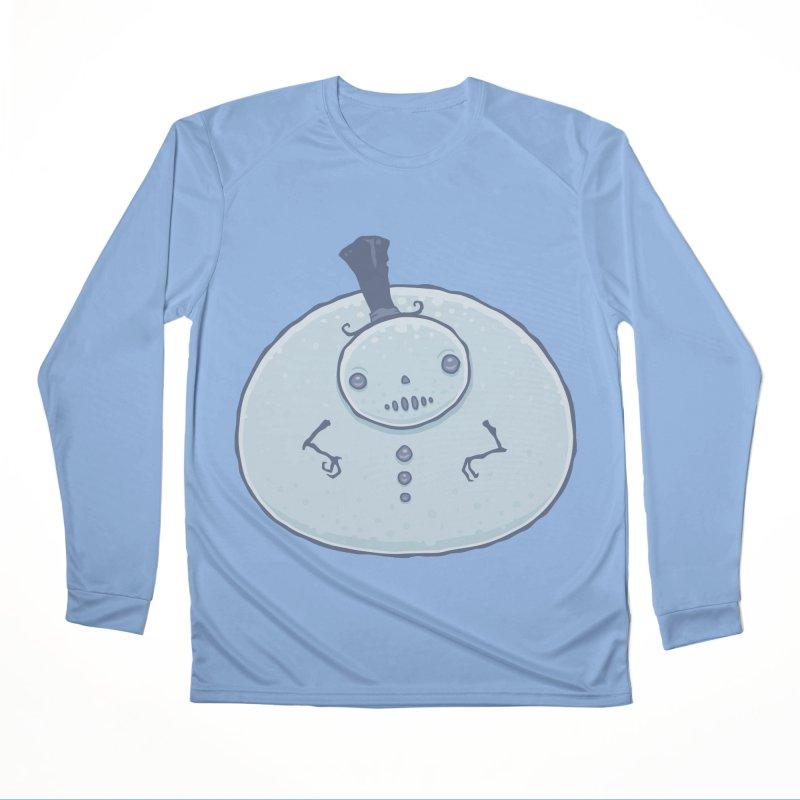 Pudgy Snowman Women's Longsleeve T-Shirt by Fizzgig's Artist Shop