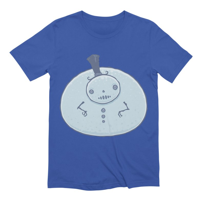 Pudgy Snowman Men's Extra Soft T-Shirt by Fizzgig's Artist Shop