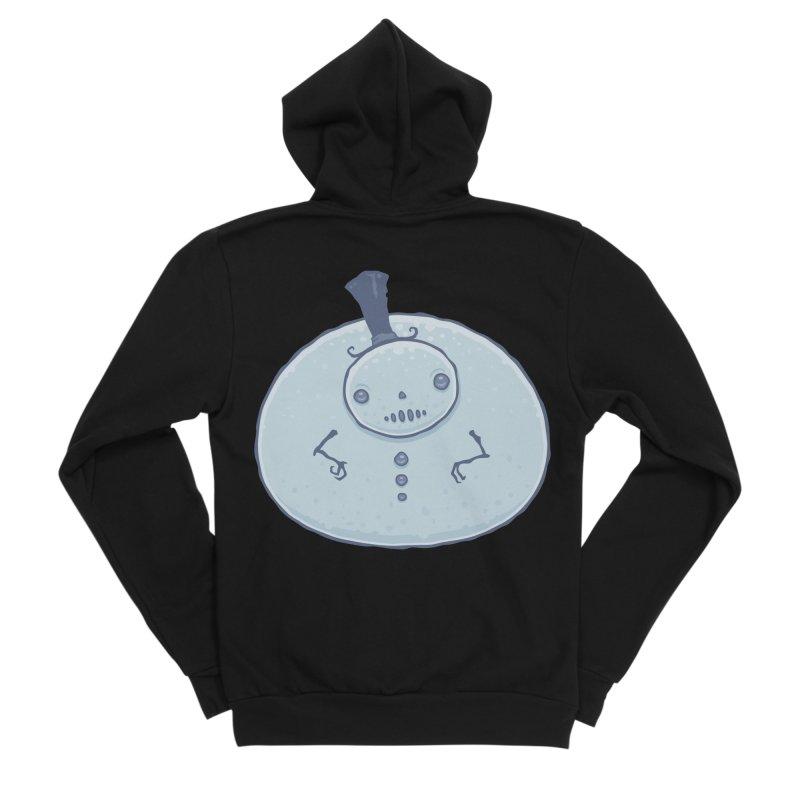 Pudgy Snowman Men's Sponge Fleece Zip-Up Hoody by Fizzgig's Artist Shop