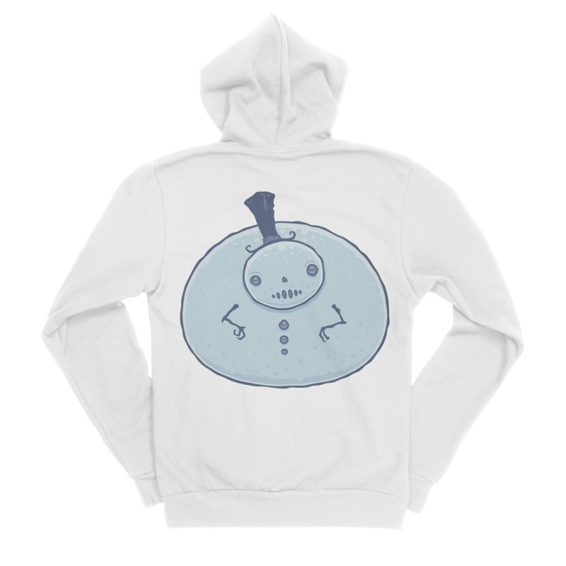 Pudgy Snowman Women's Sponge Fleece Zip-Up Hoody by Fizzgig's Artist Shop