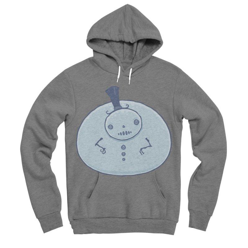 Pudgy Snowman Men's Sponge Fleece Pullover Hoody by Fizzgig's Artist Shop