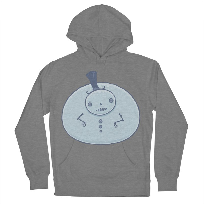 Pudgy Snowman Men's French Terry Pullover Hoody by Fizzgig's Artist Shop