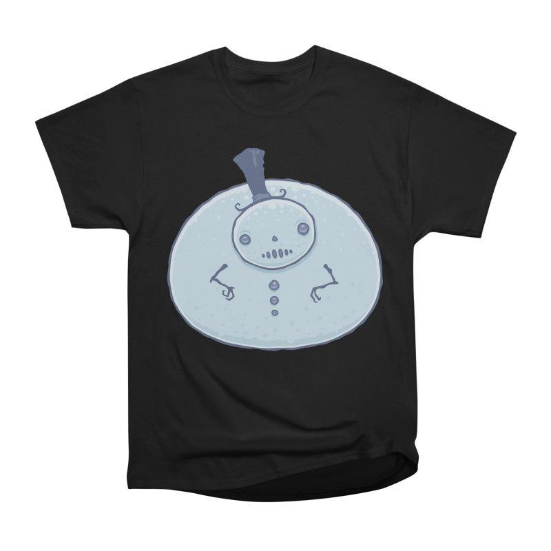 Pudgy Snowman Men's Heavyweight T-Shirt by Fizzgig's Artist Shop