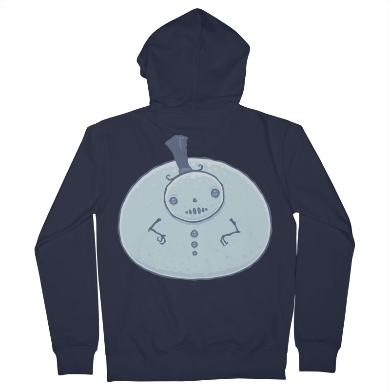 Pudgy Snowman Men's French Terry Zip-Up Hoody by Fizzgig's Artist Shop