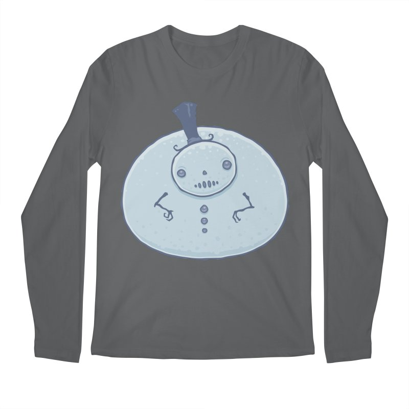 Pudgy Snowman Men's Longsleeve T-Shirt by Fizzgig's Artist Shop