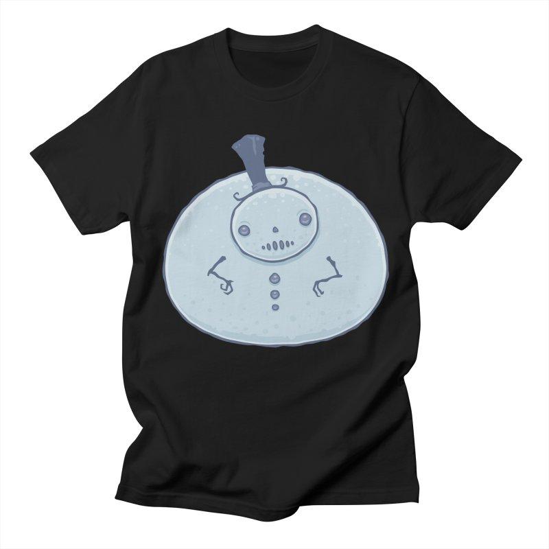 Pudgy Snowman Men's Regular T-Shirt by Fizzgig's Artist Shop