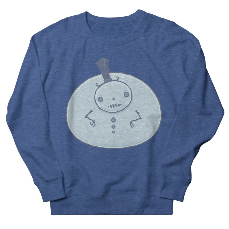Pudgy Snowman Men's French Terry Sweatshirt by Fizzgig's Artist Shop