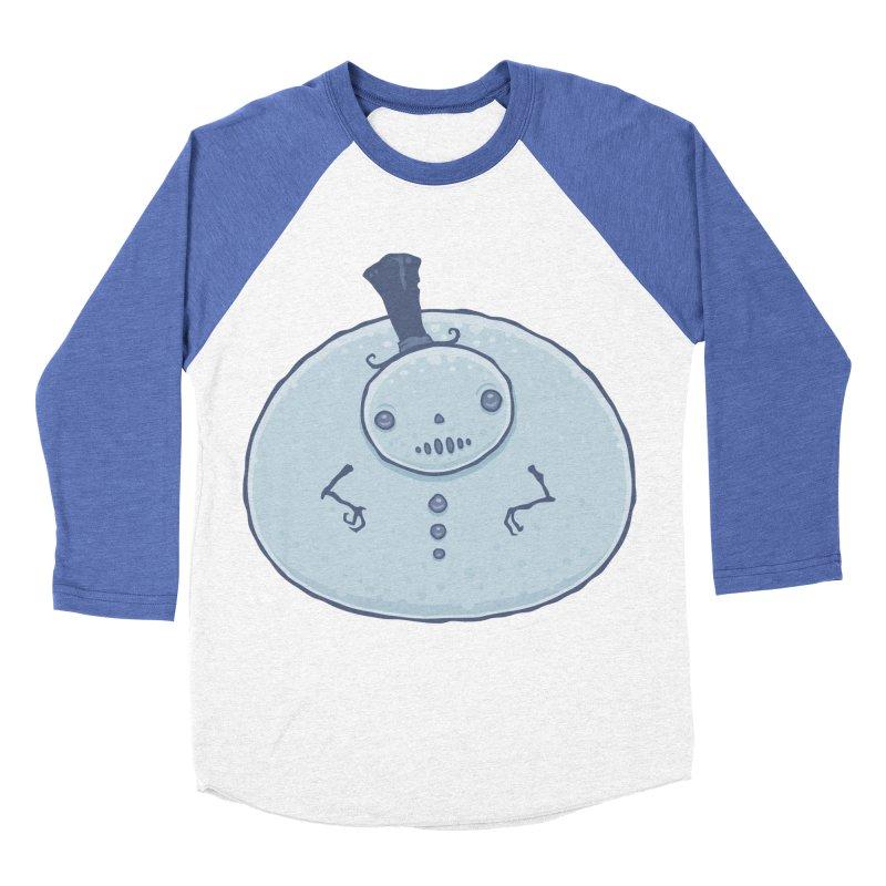 Pudgy Snowman Women's Baseball Triblend Longsleeve T-Shirt by Fizzgig's Artist Shop