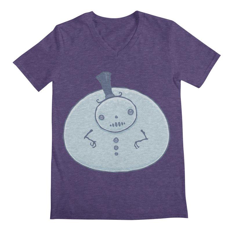 Pudgy Snowman Men's Regular V-Neck by Fizzgig's Artist Shop