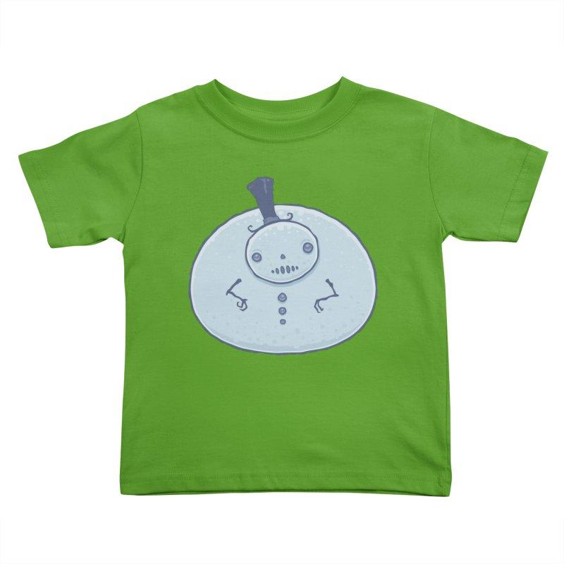 Pudgy Snowman Kids Toddler T-Shirt by Fizzgig's Artist Shop