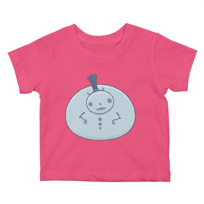 Pudgy Snowman Kids Baby T-Shirt by Fizzgig's Artist Shop