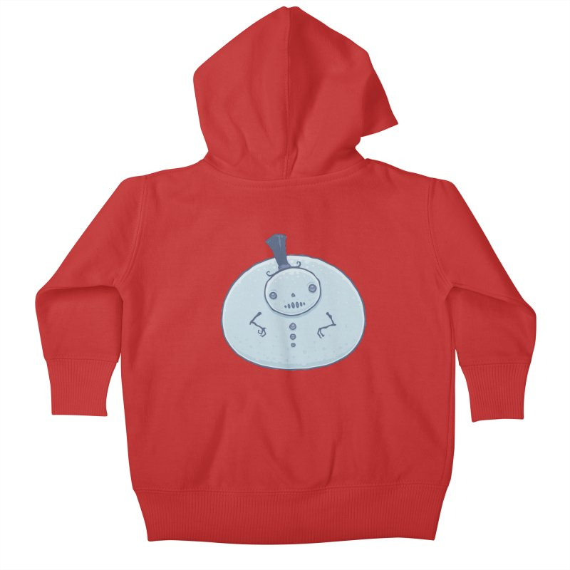 Pudgy Snowman Kids Baby Zip-Up Hoody by Fizzgig's Artist Shop