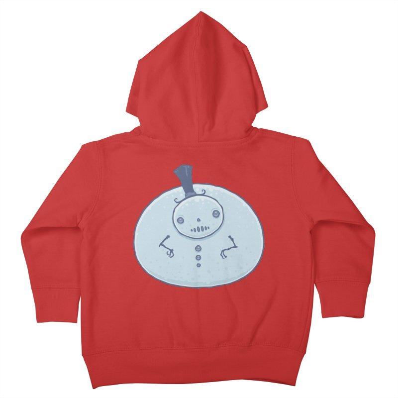Pudgy Snowman Kids Toddler Zip-Up Hoody by Fizzgig's Artist Shop