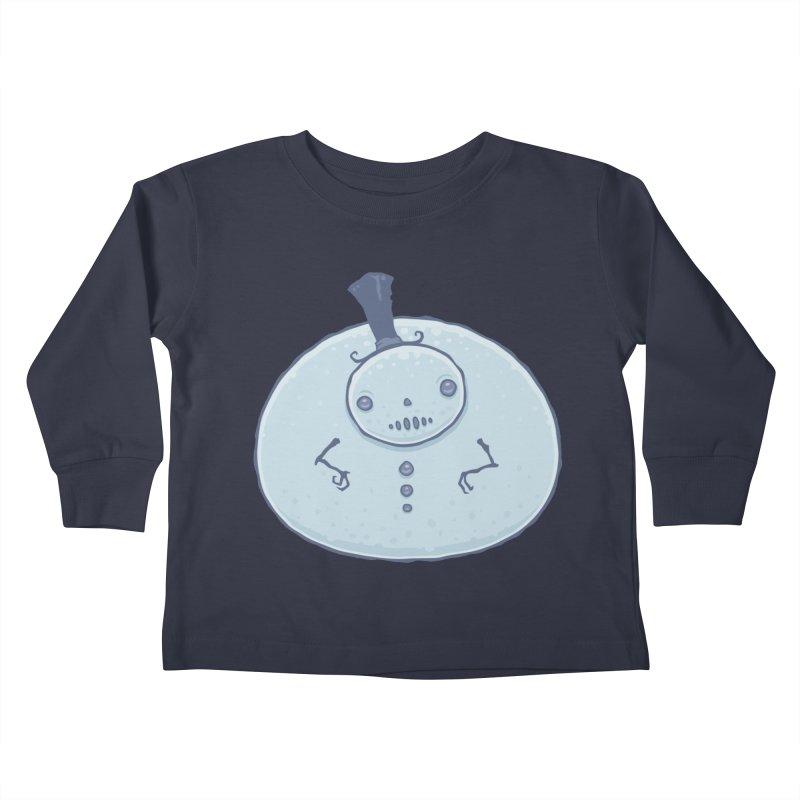 Pudgy Snowman Kids Toddler Longsleeve T-Shirt by Fizzgig's Artist Shop