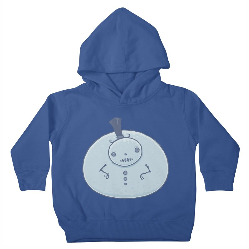 Pudgy Snowman Kids Toddler Pullover Hoody by Fizzgig's Artist Shop