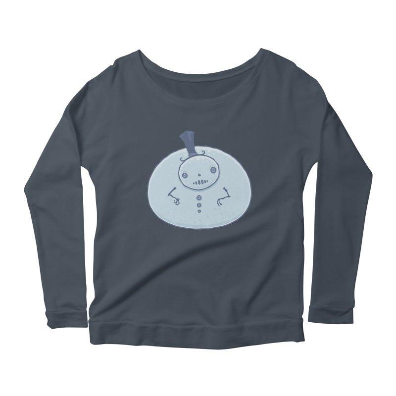 Pudgy Snowman Women's Scoop Neck Longsleeve T-Shirt by Fizzgig's Artist Shop