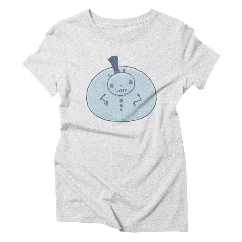 Pudgy Snowman Women's Triblend T-Shirt by Fizzgig's Artist Shop