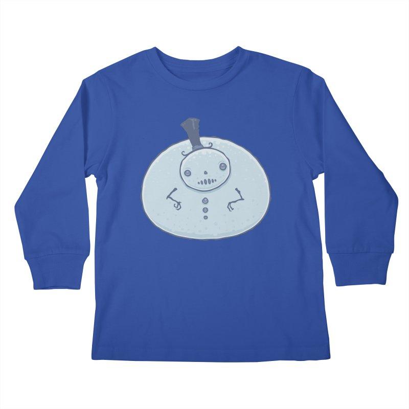 Pudgy Snowman Kids Longsleeve T-Shirt by Fizzgig's Artist Shop