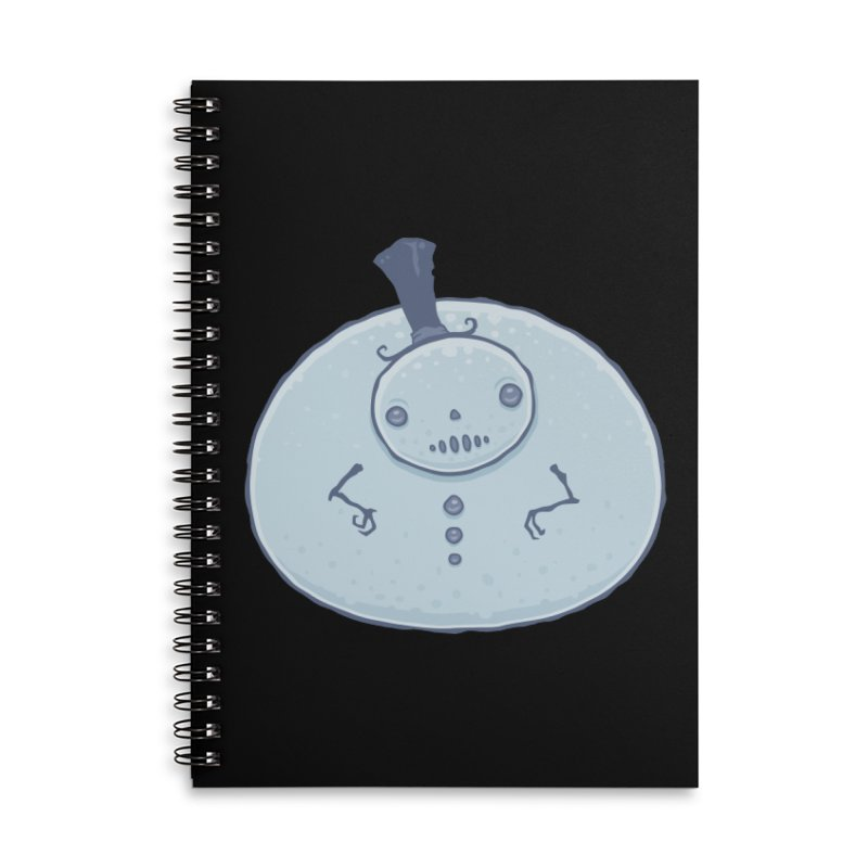 Pudgy Snowman Accessories Lined Spiral Notebook by Fizzgig's Artist Shop