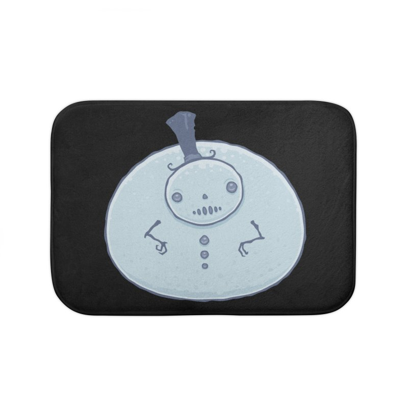 Pudgy Snowman Home Bath Mat by Fizzgig's Artist Shop